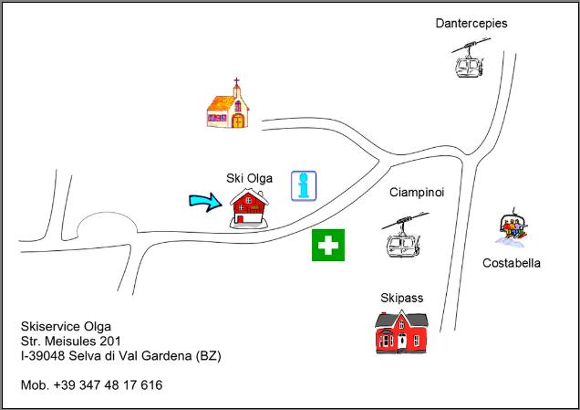 Map 347.Contact Map Skiservice Olga